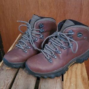 Brown Merrell waterproof hiking boys boots